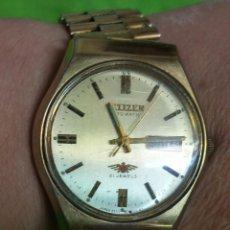 Relojes automáticos: RELOJ CITIZEN AUTOMATICO 21 JEWELS CHAPADO ORO FUNCIONANDO. Lote 54232995
