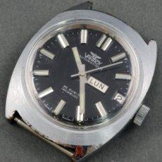 Relojes automáticos: RELOJ AUTOMÁTICO VANROY INCABLOC 25 RUBIS ESFERA NEGRA FUNCIONA . Lote 54390323