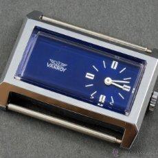 Relojes automáticos: RELOJ A CUERDA VANROY ESFERA AZUL RECTÁNGULO FUNCIONA. Lote 54390583