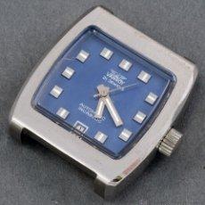 Relojes automáticos: RELOJ AUTOMÁTICO VANROY 21 JEWELLS INCABLOC ESFERA AZUL CUADRADA FUNCIONA . Lote 54404100