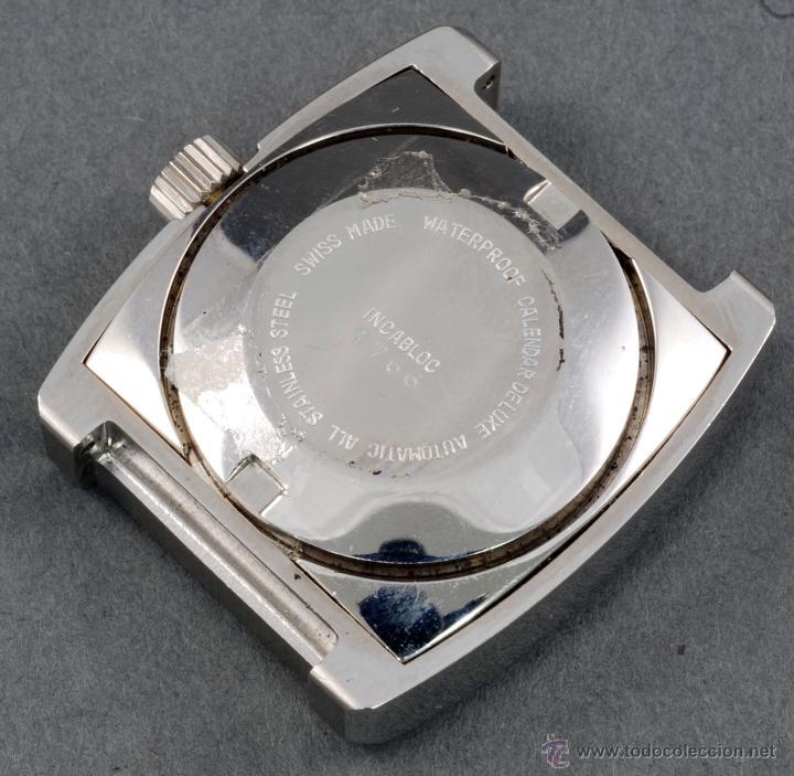 Relojes automáticos: Reloj automático Vanroy 21 jewells Incabloc esfera azul cuadrada Funciona - Foto 2 - 54404100