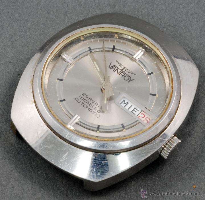 RELOJ AUTOMÁTICO VANROY 25 RUBIS INCABLOC ESFERA GRIS FUNCIONA (Relojes - Relojes Automáticos)