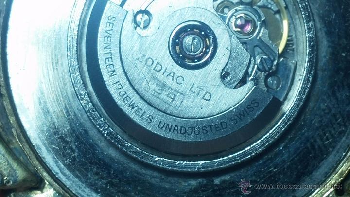 Relojes automáticos: Reloj Zodiac Automatico vintage, LTD 34 calibre 2671, de 17 jewels, años 70... - Foto 49 - 54432759