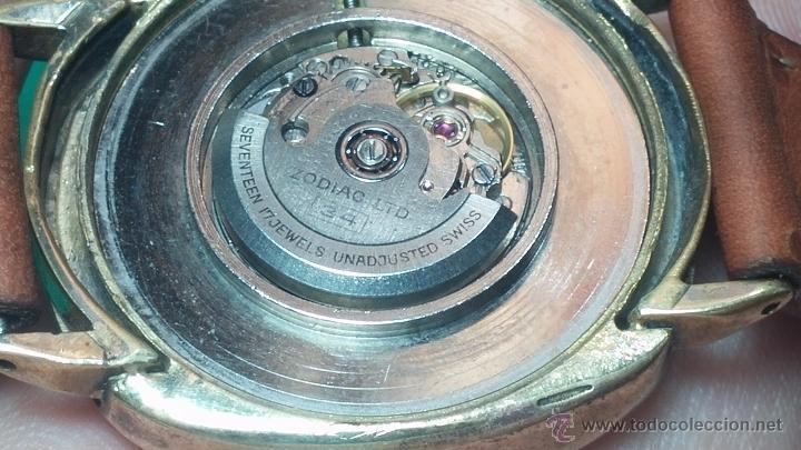 Relojes automáticos: Reloj Zodiac Automatico vintage, LTD 34 calibre 2671, de 17 jewels, años 70... - Foto 50 - 54432759