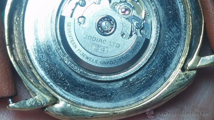 Relojes automáticos: Reloj Zodiac Automatico vintage, LTD 34 calibre 2671, de 17 jewels, años 70... - Foto 51 - 54432759