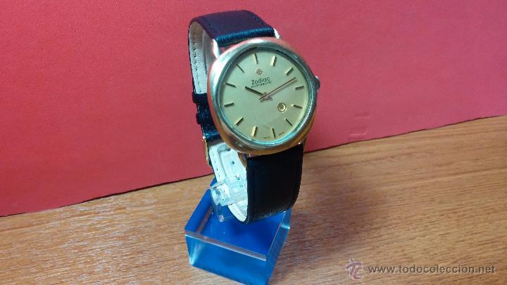 Relojes automáticos: Reloj Zodiac Automatico vintage, LTD 34 calibre 2671, de 17 jewels, años 70... - Foto 60 - 54432759
