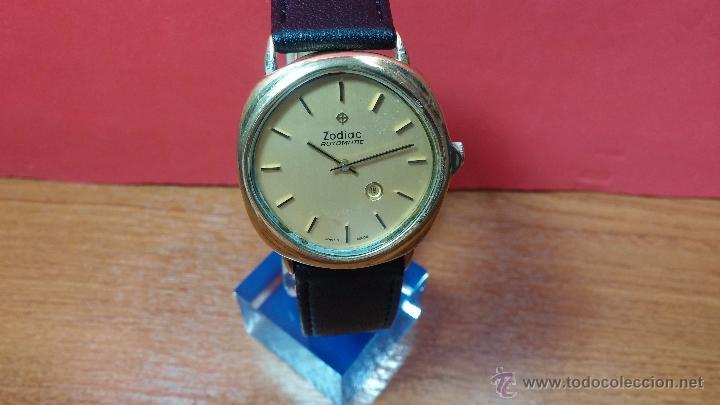 Relojes automáticos: Reloj Zodiac Automatico vintage, LTD 34 calibre 2671, de 17 jewels, años 70... - Foto 63 - 54432759