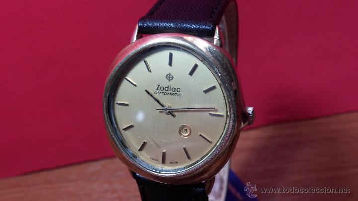 Relojes automáticos: Reloj Zodiac Automatico vintage, LTD 34 calibre 2671, de 17 jewels, años 70... - Foto 76 - 54432759