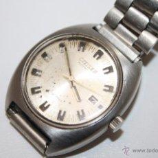 Relojes automáticos: RE241 RELOJ CITIZEN AUTOMATIC - CAJA DE ACERO - ESFERA METÁLICA - CALENDARIO - FUNCIONA. Lote 45610031