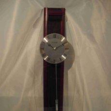 Relojes automáticos: RELOJ PARED KAISE PLATEADO. Lote 56963125