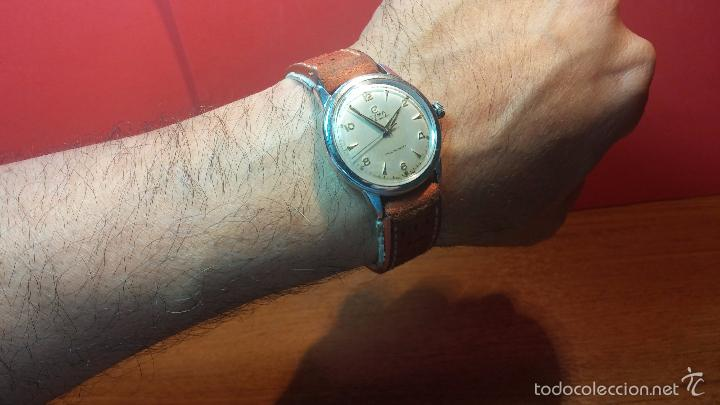 Relojes automáticos: Primer reloj Cyma Automático, shock Absorber-cal. R420 martillo, C-1948, Nºbajísimo 152656 - Foto 3 - 57121634