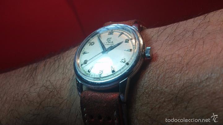 Relojes automáticos: Primer reloj Cyma Automático, shock Absorber-cal. R420 martillo, C-1948, Nºbajísimo 152656 - Foto 5 - 57121634