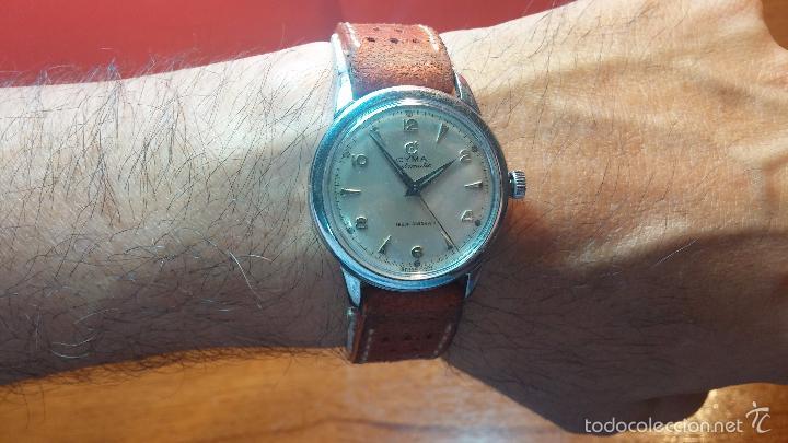 Relojes automáticos: Primer reloj Cyma Automático, shock Absorber-cal. R420 martillo, C-1948, Nºbajísimo 152656 - Foto 8 - 57121634