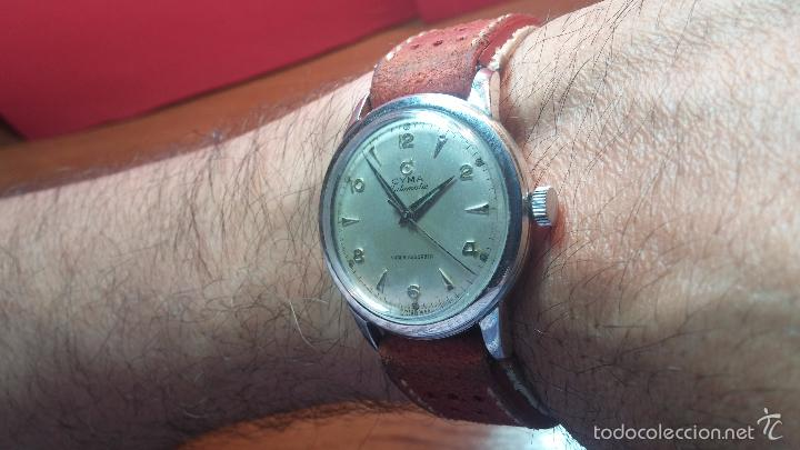 Relojes automáticos: Primer reloj Cyma Automático, shock Absorber-cal. R420 martillo, C-1948, Nºbajísimo 152656 - Foto 9 - 57121634