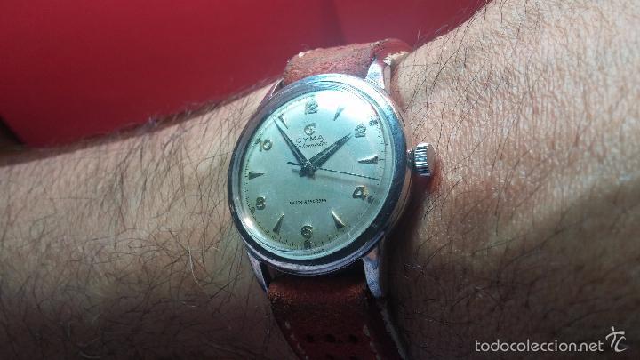 Relojes automáticos: Primer reloj Cyma Automático, shock Absorber-cal. R420 martillo, C-1948, Nºbajísimo 152656 - Foto 11 - 57121634