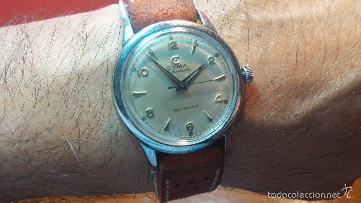 Relojes automáticos: Primer reloj Cyma Automático, shock Absorber-cal. R420 martillo, C-1948, Nºbajísimo 152656 - Foto 12 - 57121634