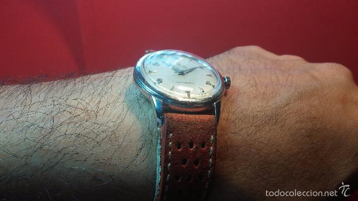 Relojes automáticos: Primer reloj Cyma Automático, shock Absorber-cal. R420 martillo, C-1948, Nºbajísimo 152656 - Foto 13 - 57121634