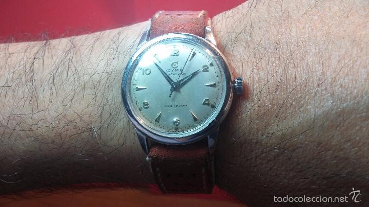 Relojes automáticos: Primer reloj Cyma Automático, shock Absorber-cal. R420 martillo, C-1948, Nºbajísimo 152656 - Foto 15 - 57121634