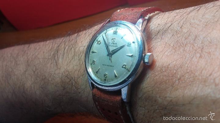 Relojes automáticos: Primer reloj Cyma Automático, shock Absorber-cal. R420 martillo, C-1948, Nºbajísimo 152656 - Foto 17 - 57121634
