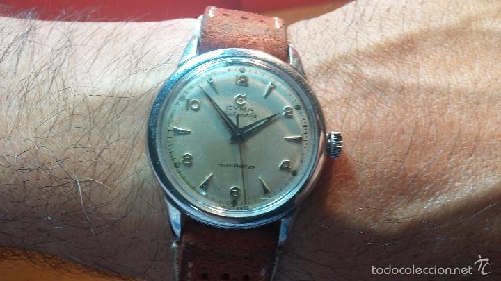 Relojes automáticos: Primer reloj Cyma Automático, shock Absorber-cal. R420 martillo, C-1948, Nºbajísimo 152656 - Foto 25 - 57121634
