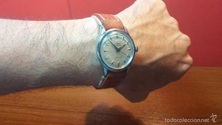 Relojes automáticos: Primer reloj Cyma Automático, shock Absorber-cal. R420 martillo, C-1948, Nºbajísimo 152656 - Foto 28 - 57121634