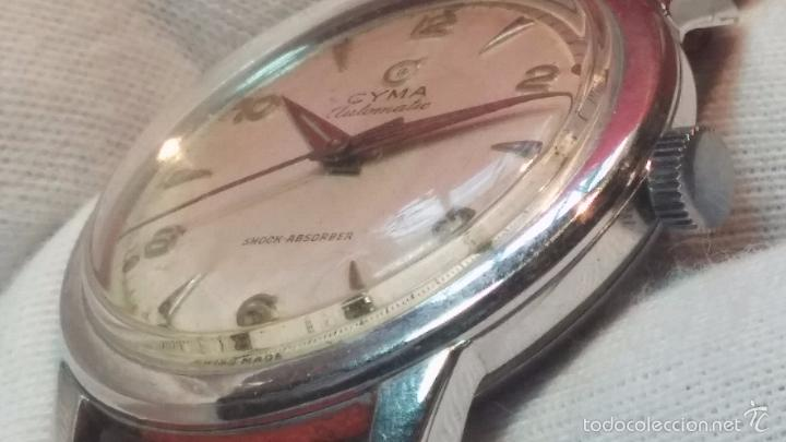 Relojes automáticos: Primer reloj Cyma Automático, shock Absorber-cal. R420 martillo, C-1948, Nºbajísimo 152656 - Foto 49 - 57121634
