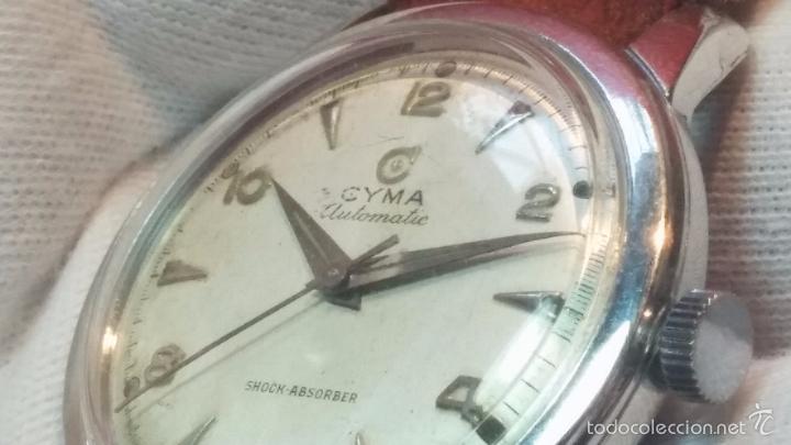 Relojes automáticos: Primer reloj Cyma Automático, shock Absorber-cal. R420 martillo, C-1948, Nºbajísimo 152656 - Foto 50 - 57121634