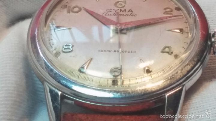 Relojes automáticos: Primer reloj Cyma Automático, shock Absorber-cal. R420 martillo, C-1948, Nºbajísimo 152656 - Foto 53 - 57121634