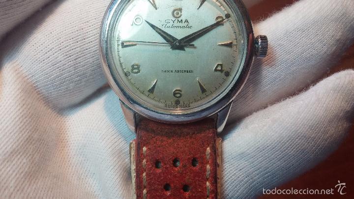 Relojes automáticos: Primer reloj Cyma Automático, shock Absorber-cal. R420 martillo, C-1948, Nºbajísimo 152656 - Foto 69 - 57121634