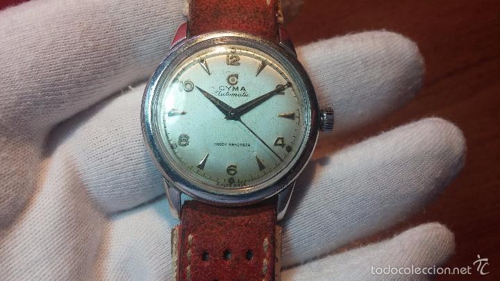 Relojes automáticos: Primer reloj Cyma Automático, shock Absorber-cal. R420 martillo, C-1948, Nºbajísimo 152656 - Foto 73 - 57121634