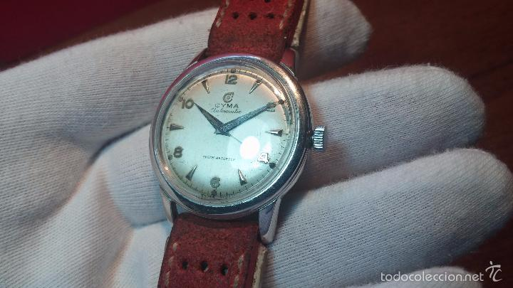 Relojes automáticos: Primer reloj Cyma Automático, shock Absorber-cal. R420 martillo, C-1948, Nºbajísimo 152656 - Foto 74 - 57121634
