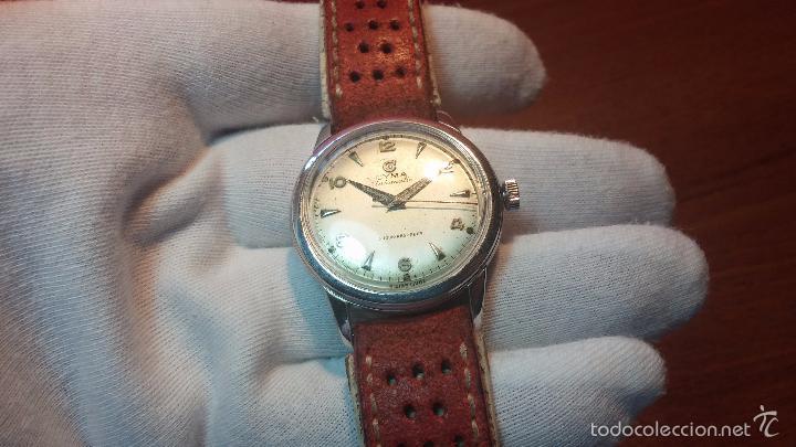 Relojes automáticos: Primer reloj Cyma Automático, shock Absorber-cal. R420 martillo, C-1948, Nºbajísimo 152656 - Foto 75 - 57121634