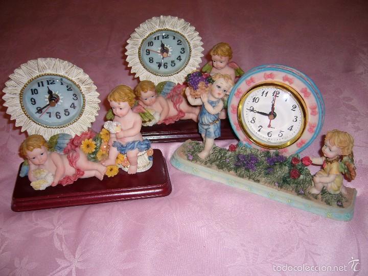 RELOJ, RELOJES. NUEVOS DE ÁNGEL, ÁNGELES-FUNCIONA A PILAS-REGALO NAVIDAD, COMUNIÓN, SOBREMESA (Relojes - Relojes Automáticos)