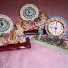 Relojes automáticos: RELOJ, RELOJES. NUEVOS DE ÁNGEL, ÁNGELES-FUNCIONA A PILAS-REGALO NAVIDAD, COMUNIÓN, SOBREMESA. Lote 57195322
