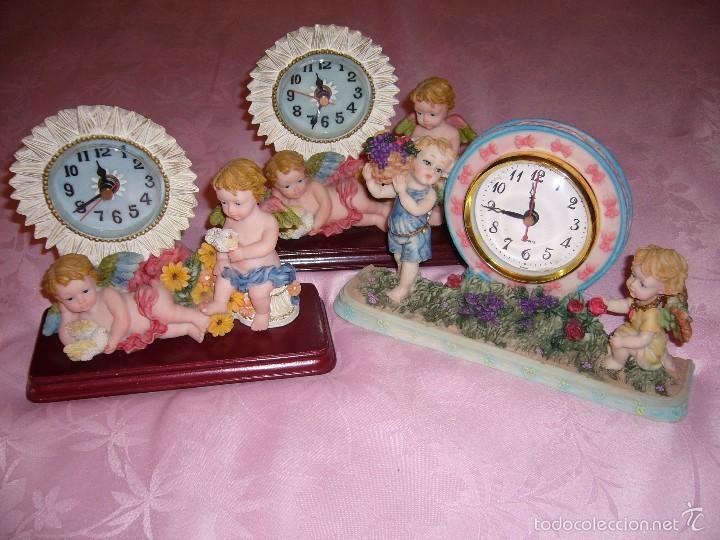 Relojes automáticos: RELOJ, RELOJES. NUEVOS DE ÁNGEL, ÁNGELES-FUNCIONA A PILAS-REGALO NAVIDAD, COMUNIÓN, SOBREMESA - Foto 3 - 57195322