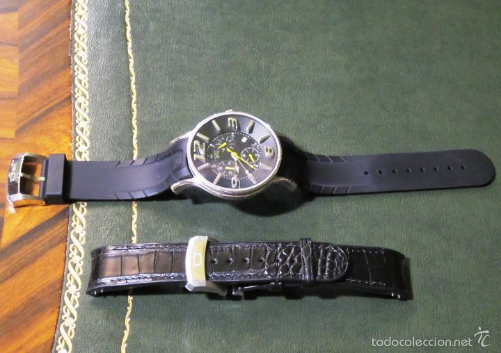 Relojes automáticos: DISEÑO ALTA GAMA RELOJ PULSERA NOA COMO NUEVO CAJA Y PAPELES DOBLE CORREA - Foto 7 - 57323447