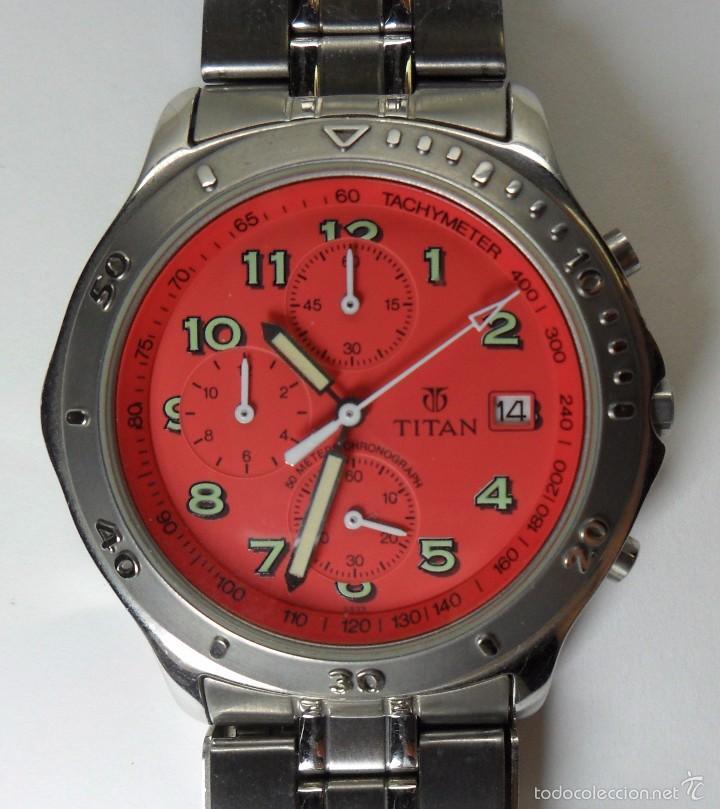 RELOJ TITAN DE CUARZO - MODELO NUMERADO - CRONÓGRAFO - TAQUÍMETRO (Relojes - Relojes Automáticos)