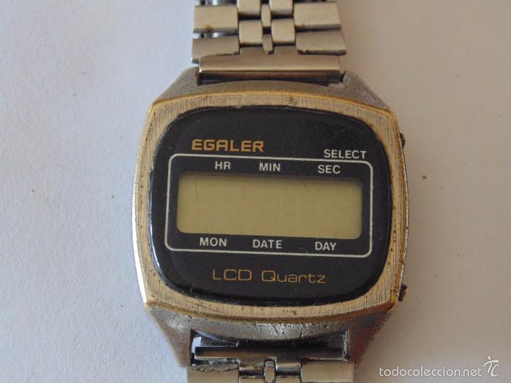 Relojes automáticos: Reloj de pulsera digital Egaler. 1970-1980. Vintage - Foto 4 - 57683246