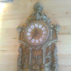 Relojes automáticos: RELOJ SOBREMESA EN CHAPA AL DORADO. Lote 57698200