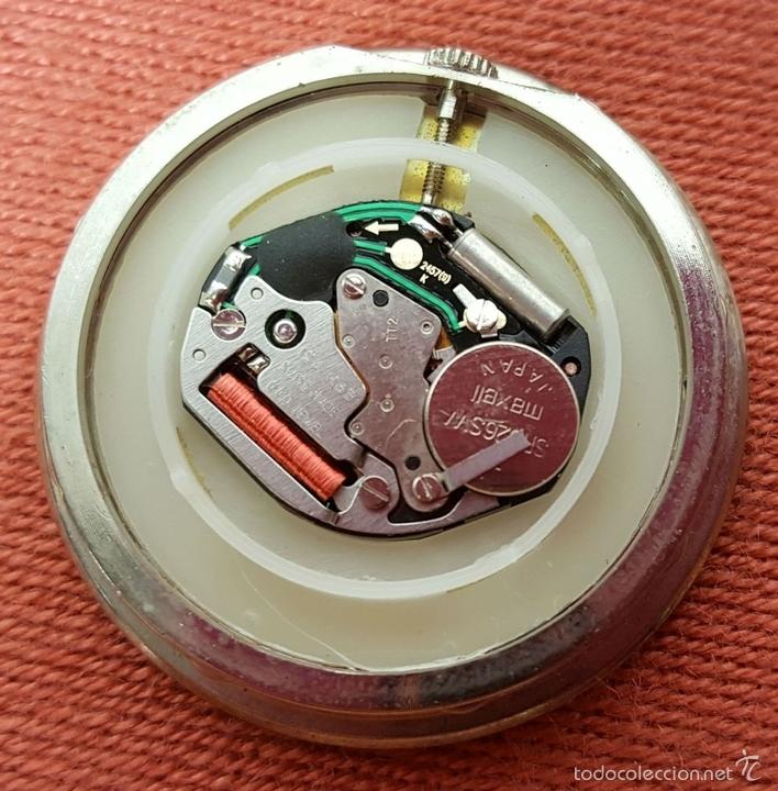 Relojes automáticos: RE383. RELOJ MARCA BACCARAT. BASE EN CRISTAL DE BACCARAT. FRANCE. SIGLO XX. - Foto 5 - 58149534
