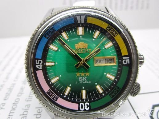 ANTIGUO RELOJ ORIENT SK 21 JEWELS AUTOMATICO TRES TORNILLOS CAJA GRANDE 42MM HOMBRE VINTAGE (Relojes - Relojes Automáticos)