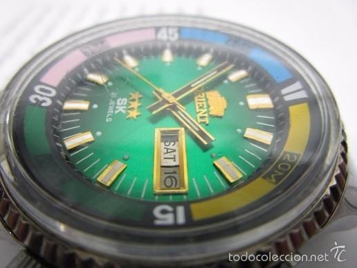 Relojes automáticos: ANTIGUO reloj ORIENT SK 21 JEWELS AUTOMATICO TRES TORNILLOS CAJA GRANDE 42mm HOMBRE VINTAGE - Foto 2 - 58304103