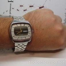 Relojes automáticos: SAMOURAI 25 JEWELS AUTOMATIC SWISS RELOJ ANTIGUO COLECCION HOMBRE CAJA GRANDE TV 43MM RARO ESCASO. Lote 58669715