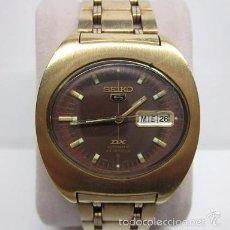 Relojes automáticos: RELOJ SEIKO 5 DX AUTOMATIC 23 JEWELS ANTIGUO COLECCION HOMBRE 37MM CHAPADO ORO VINTAGE. Lote 58675856
