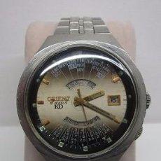 Relojes automáticos: ANTIGUO RELOJ ORIENT KD 21 JEWELS CALENDARIO PERPETUO 42MM HOMBRE VINTAGE WU. Lote 58676449