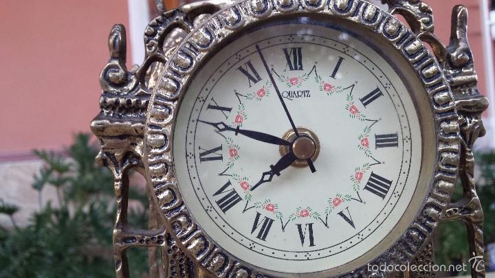 Relojes automáticos: antiguo reloj de bronce, - Foto 3 - 59716363