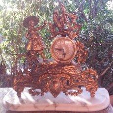 Relojes automáticos: ANTIGUO RELOJ DE BRONCE CON PIE DE MARMOL. Lote 59789504