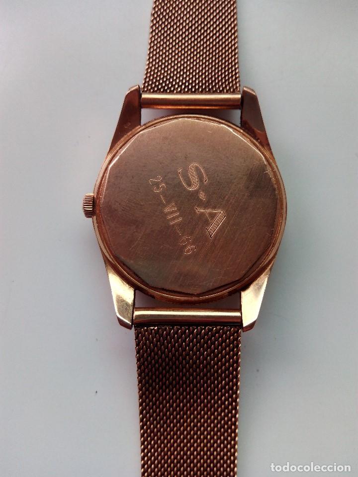 Relojes automáticos: Reloj de oro rosa de 18 kilates, de la marca Geneve automático. - Foto 4 - 61867088