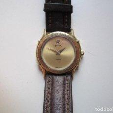 Relojes automáticos: RELOJ DE PULSERA SEÑORA RETRO CYMA CHAPADO EN ORO 24MM QUARZ FUNCIONANDO. Lote 62066832
