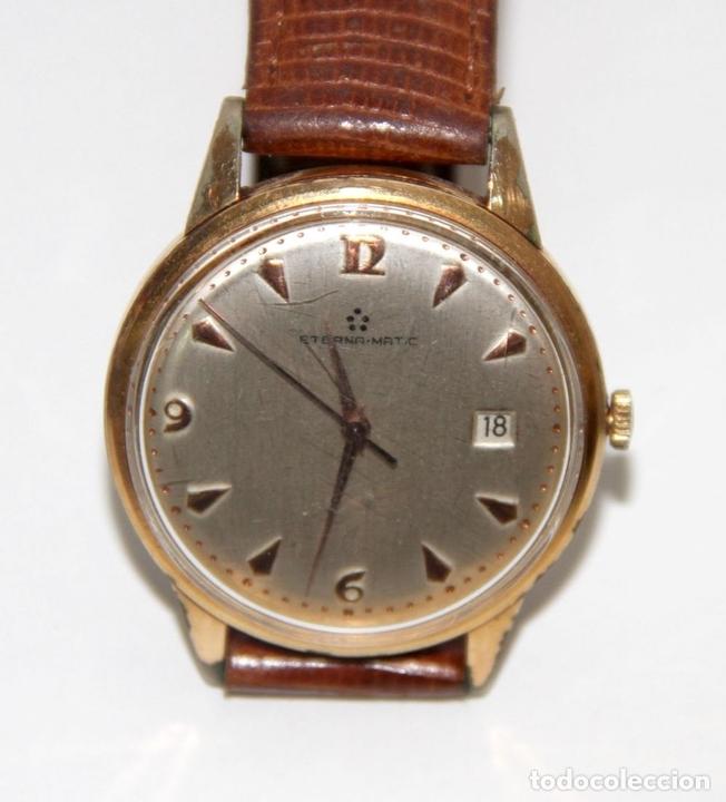 Relojes automáticos: RE399 ETERNA-MATIC VINTAGE. PLAQUÉ ORO. FUNCIONA. SUIZA. AÑOS 50 - Foto 2 - 63106416